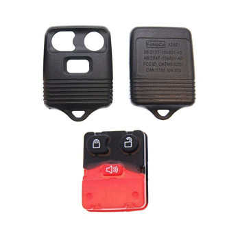 1998 - 2009 FORD LINCOLN MERCURY MAZDA REMOTE SHELL REPLACEMENT KIT (3 BUTTONS)