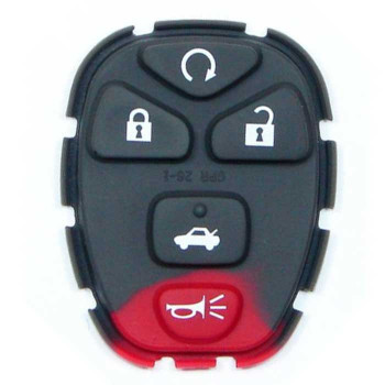 2005-2010 GM REMOTE REPLACEMENT RUBBER PAD (5 BUTTONS)