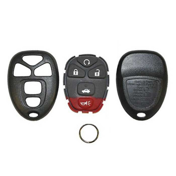 2005-2010 GM REMOTE SHELL WITH RUBBER PAD (5 BUTTONS)