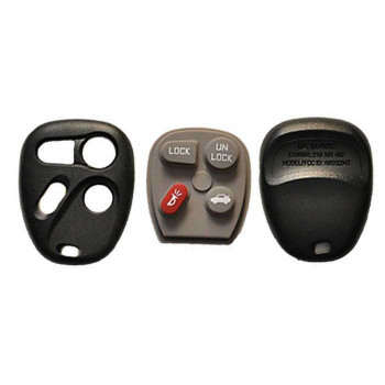 1996-2005 GM REMOTE SHELL WITH RUBBER PAD (4 BUTTONS)