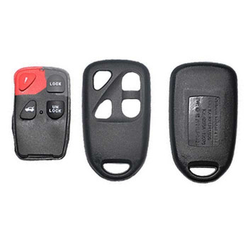 2003 -2005 MAZDA REMOTE SHELL WITH RUBBER PAD (4 BUTTONS)