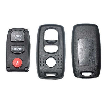2007 - 2008 MAZDA 3 REMOTE SHELL WITH RUBBER PAD (3 BUTTONS)