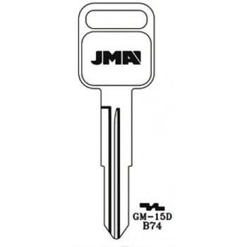 1990-1997 JMA HONDA ISUZU KEY BLANK *B74*