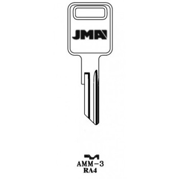 1981-1992 JMA AMERICAN MOTORS KEY BLANK RA4 - AMM-3