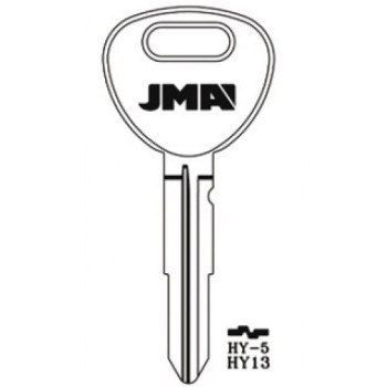 1995-1999 JMA HYUNDAI KEY BLANK HY13 - HY-5