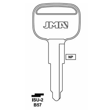 JMA ISUZU GMC KEY BLANK - ISU-2 - B57 - X158
