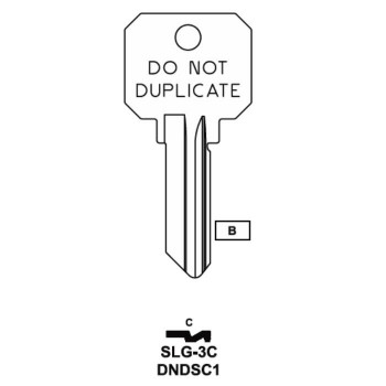 JMA SLG-3C Do Not Duplicate DND Key SC1/1145 - 5 PIN