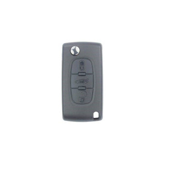 PEUGEOT REMOTE FLIP KEY SHELL 3 BUTTON Without BATTERY HOLDER