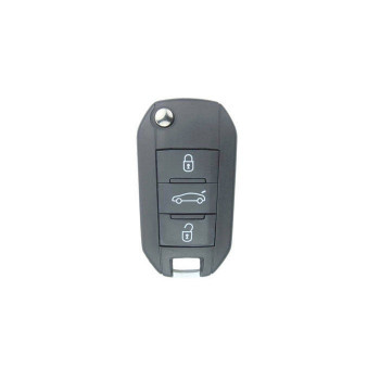 PEUGEOT 508 REMOTE FLIP KEY SHELL - 3 BUTTON